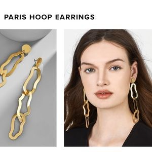 Baublebar Gold Paris Hoop Earrings